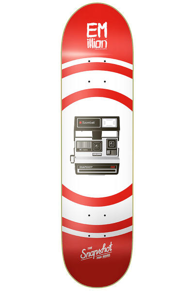 "EMillion Szombati Snapshot Series 8.25"" Deck (red white)"