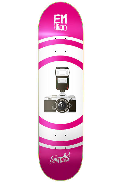 "EMillion Lang Snapshot Series 8.5"" Deck (pink white)"