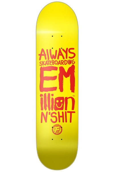 "EMillion Always Skateboarding II Fibertech 7.875"" Deck (yellow)"