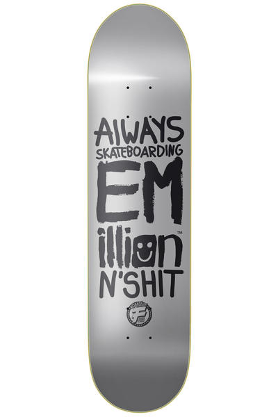 "EMillion Always Skateboarding II Fibertech 8.5"" Deck (grey)"