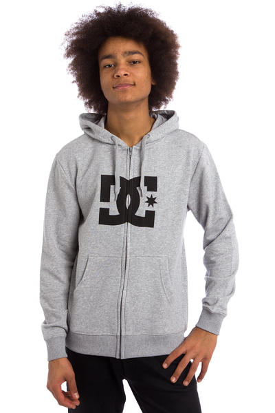 DC Star Zip-Hoodie (heather grey black)