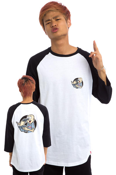DC x Big Brother Stupid Magazine Raglan 3/4 Longsleeve (black)