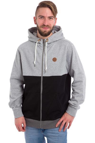 Volcom Single Stone Colour Block Zip-Hoodie (heather grey)