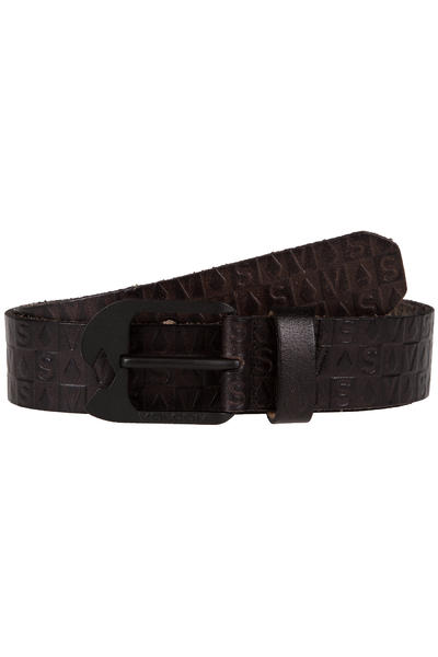 Volcom Stamp Leather Belt (black)