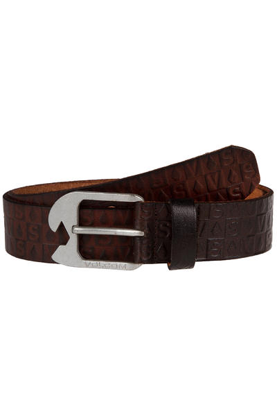 Volcom Stamp Leather Belt (brown)