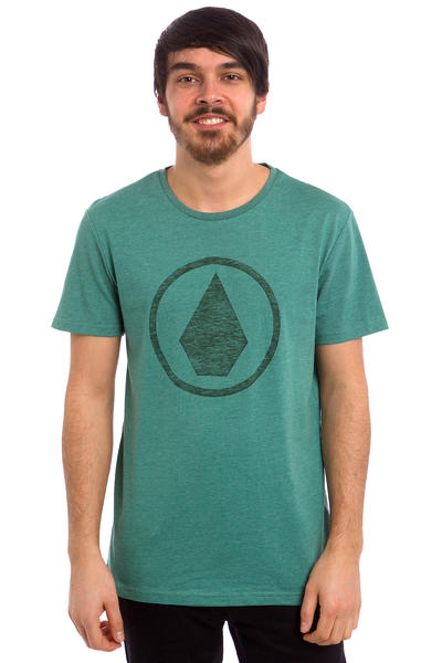 Volcom Solid Stone Heather T-Shirt (bottle green)