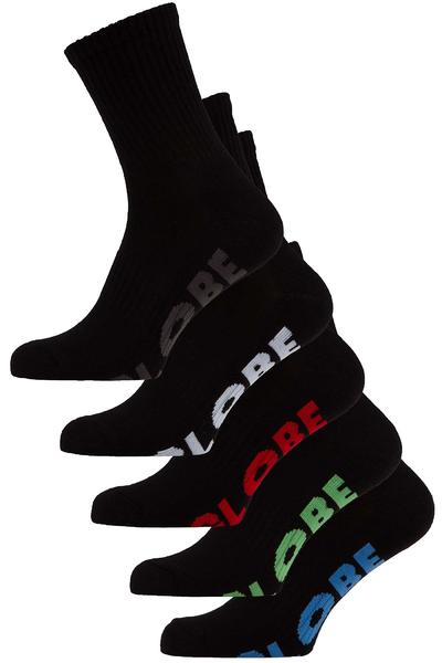 Globe Stealth Socken US 7-11 (black) 5er Pack