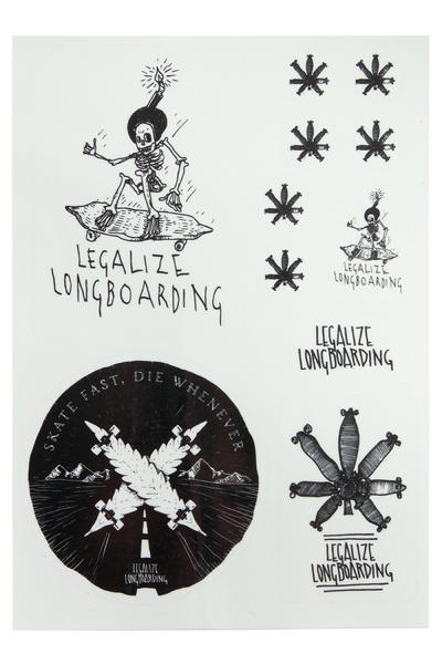 Legalize Longboarding Cat's Eye Caution Pegatinas (reflective)