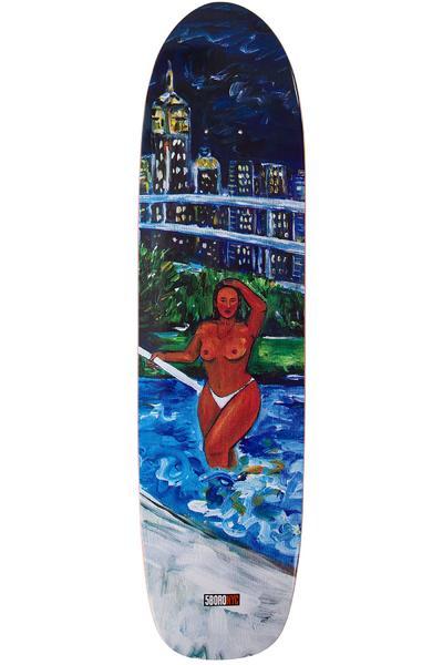 """5BORO Caliente Pool Chica 8.125"""" Planche Skate (blue)"""