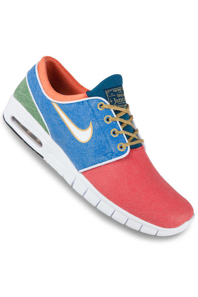 Nike SB Stefan Janoski Max L QS Grail Shoe (rio white photo blue)