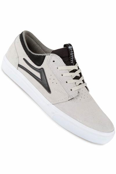 Lakai Griffin Suede Shoe (white black)