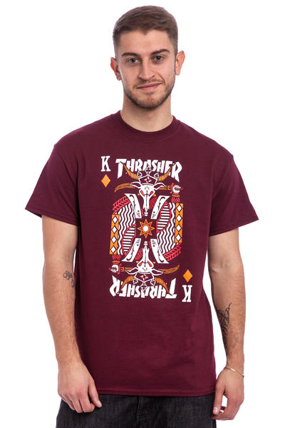Thrasher King Of Diamonds T-Shirt (maroon)