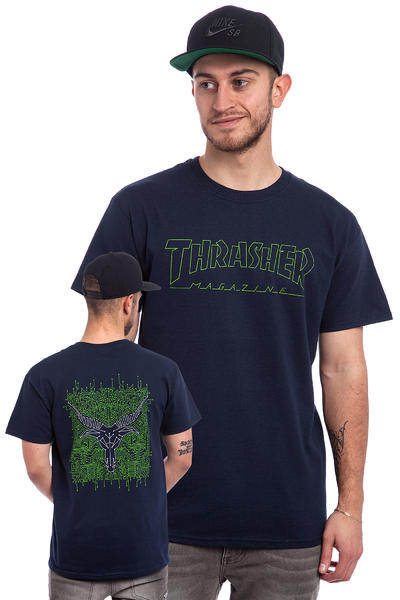 Thrasher Circuit Goat T-Shirt (navy)
