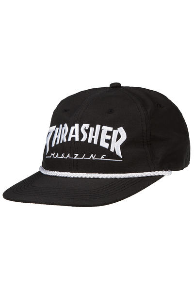 Thrasher Rope Snapback Cap (black white)