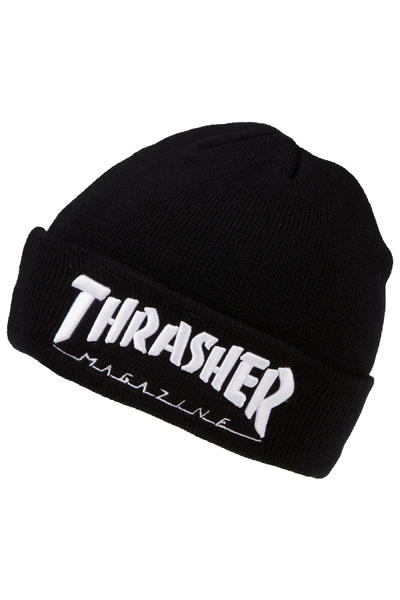 Thrasher Embroidered Logo Gorro (black white)