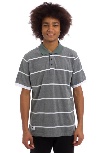 LRG RC Striped Polos (black heather)