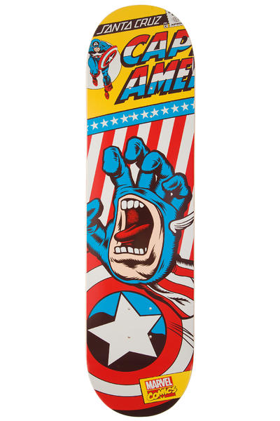 "Santa Cruz x Marvel Captain America Hand 8.25"" Deck"