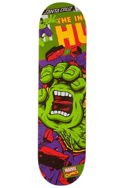 """Santa Cruz x Marvel Hulk Hand 8.25"""" Deck"""