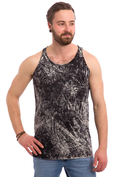 Cleptomanicx Marble Tank-Top (black)