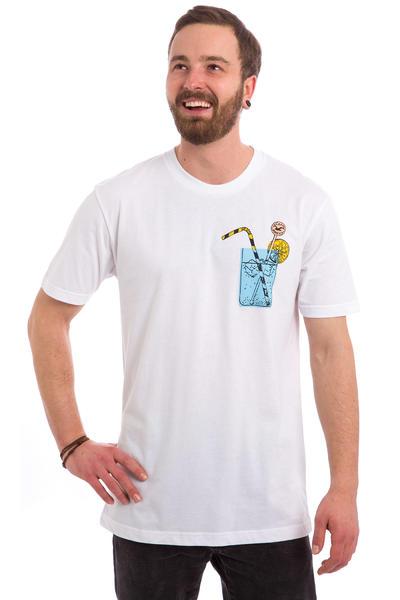 Cleptomanicx Drink Pocket T-Shirt (white)