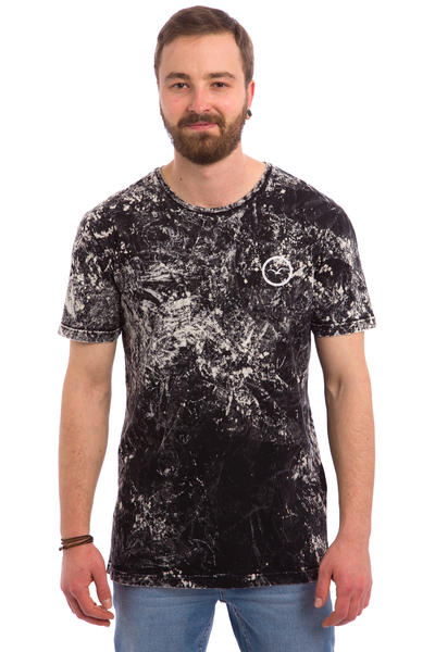 Cleptomanicx Marble T-Shirt (black)