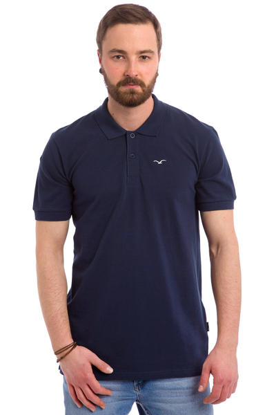 Cleptomanicx Möwe Polo-Shirt (dark navy)