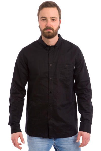 Cleptomanicx Linen Shirt (black)