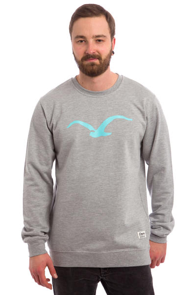 Cleptomanicx Möwe Sweatshirt (heather grey turquoise)