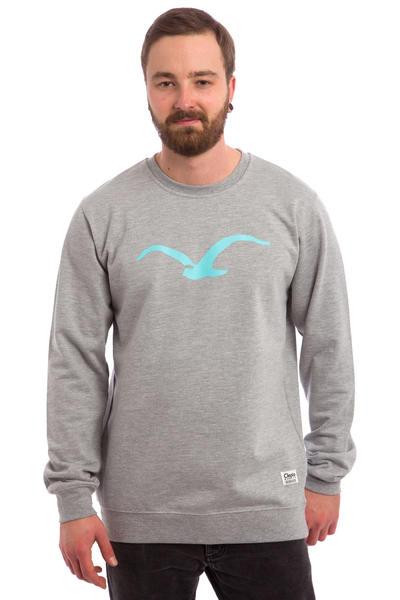 Cleptomanicx Möwe Sweatshirt (heather grey turquoise)
