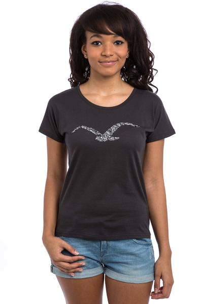 Cleptomanicx Möwe Mamaste T-Shirt women (pirate black)
