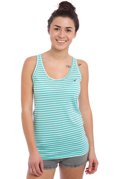 Cleptomanicx Möwe Stripe Tank-Top women (turquoise)