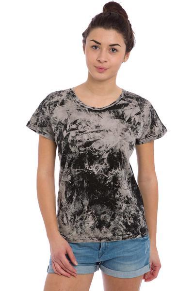 Cleptomanicx Marble T-Shirt women (black)