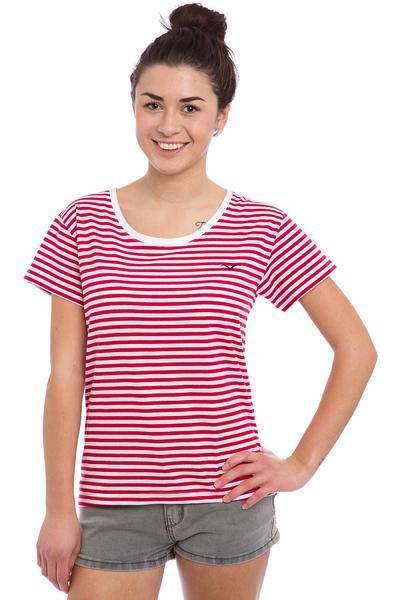 Cleptomanicx Möwe Stripes T-Shirt women (true red)