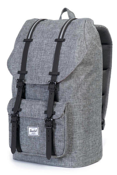 Herschel Little America Backpack 25L (raven crosshatch black)