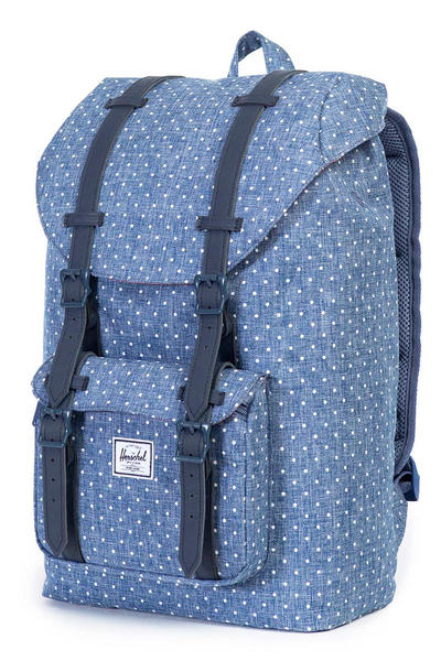 Herschel Little America Mid Rucksack 17L (limoges crosshatch white polka)