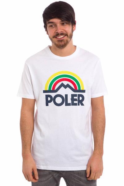 Poler Mountain Rainbow Camiseta (white)