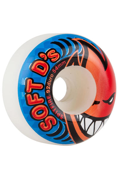 Spitfire Soft D's 54mm 92A Rollen (white) 4er Pack