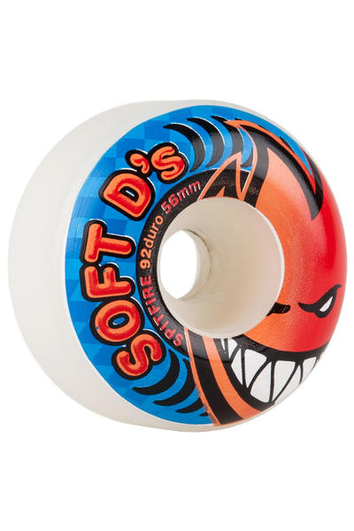 Spitfire Soft D's 56mm 92A Rollen (white) 4er Pack