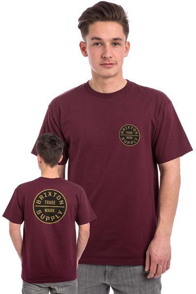 Brixton Oath T-Shirt (burgundy gold)