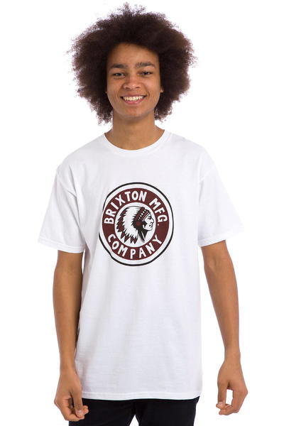Brixton Rival T-Shirt (white cardinal)