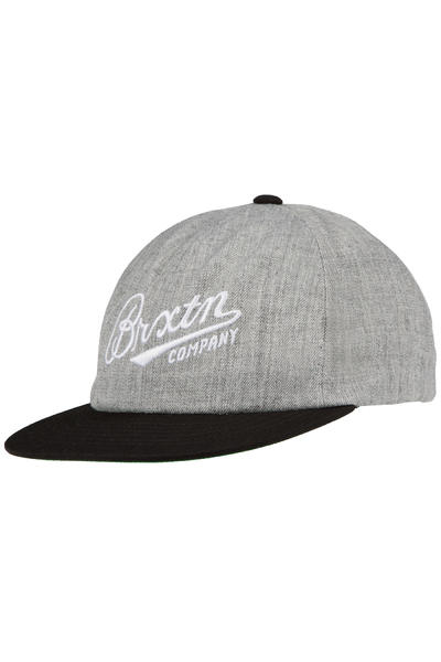 Brixton Fenway Strapback Cap (light heather grey black)