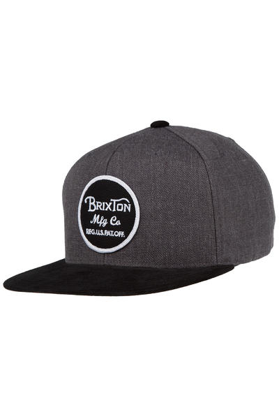 Brixton Wheeler Snapback Cap (charcoal heather black)