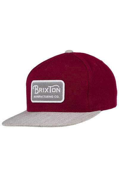 Brixton Grade Snapback Cap (burgundy heather grey)