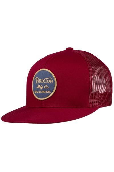 Brixton Wheeler Trucker Cap (burgundy navy)