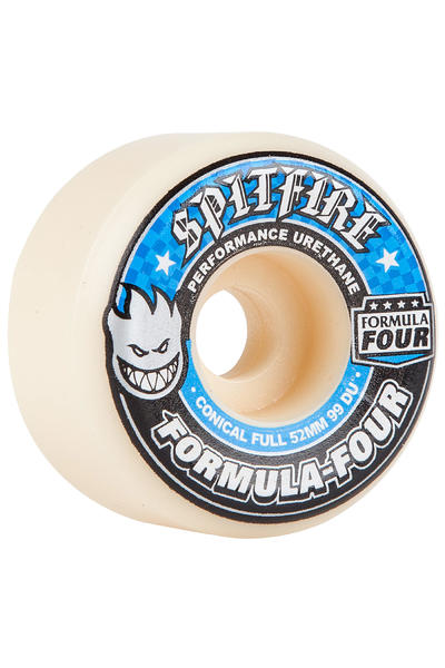 Spitfire Formula Four Conical Full 52mm Rollen (white blue) 4er Pack
