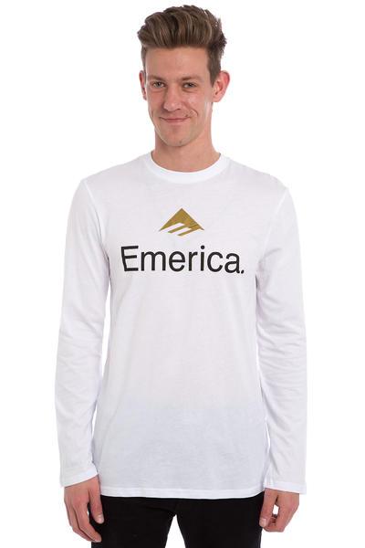 Emerica Skateboard Logo Longsleeve (white)