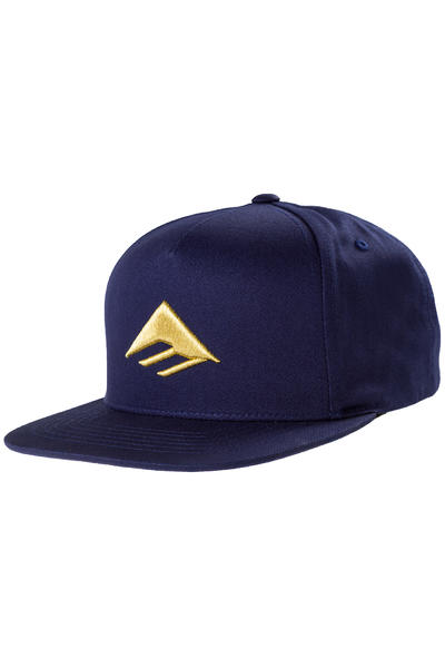 Emerica Triangle Snapback Cap (navy gold)
