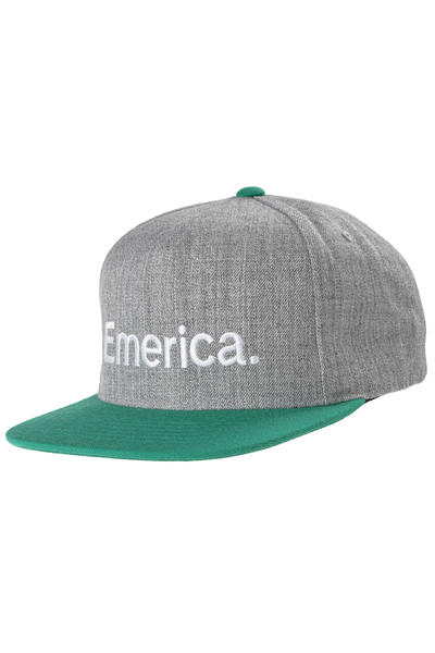 Emerica Pure Snapback Cap (green white)