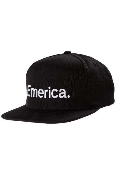 Emerica Pure Snapback Cap (black white)
