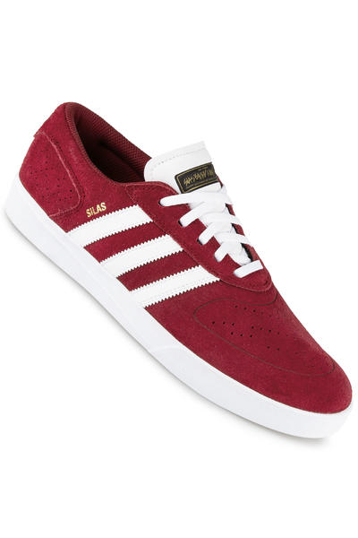adidas Silas Vulc ADV Shoe (burgundy white black)